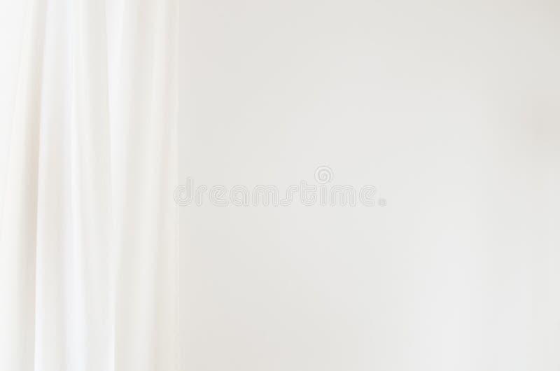 Άσπρη κουρτίνα στοκ φωτογραφία