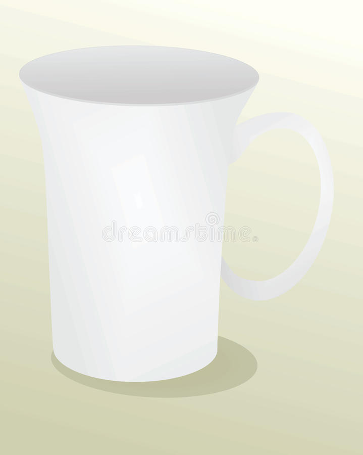 Άσπρη κούπα προτύπων ελεύθερη απεικόνιση δικαιώματος