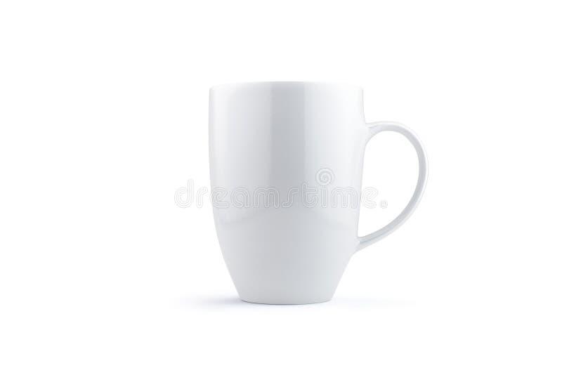 Άσπρη κούπα στο λευκό διανυσματική απεικόνιση