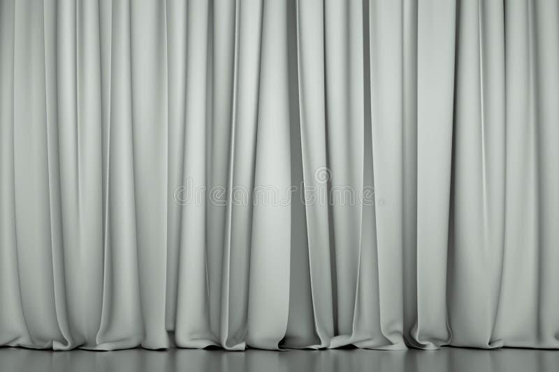 Άσπρη κλειστή κουρτίνα στοκ φωτογραφίες με δικαίωμα ελεύθερης χρήσης