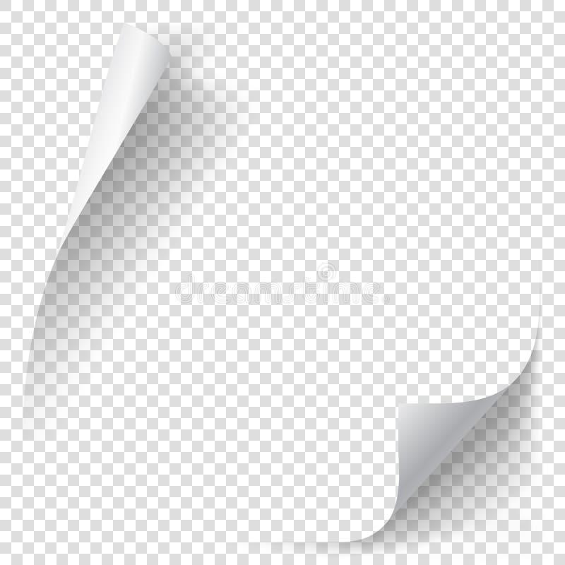 Άσπρη μπούκλα εγγράφου κλίσης ελεύθερη απεικόνιση δικαιώματος