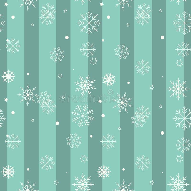 Άσπρη νιφάδα χιονιού στο μπλε υπόβαθρο Διανυσματικό σχέδιο σχεδίων Χριστουγέννων για το σκηνικό ελεύθερη απεικόνιση δικαιώματος