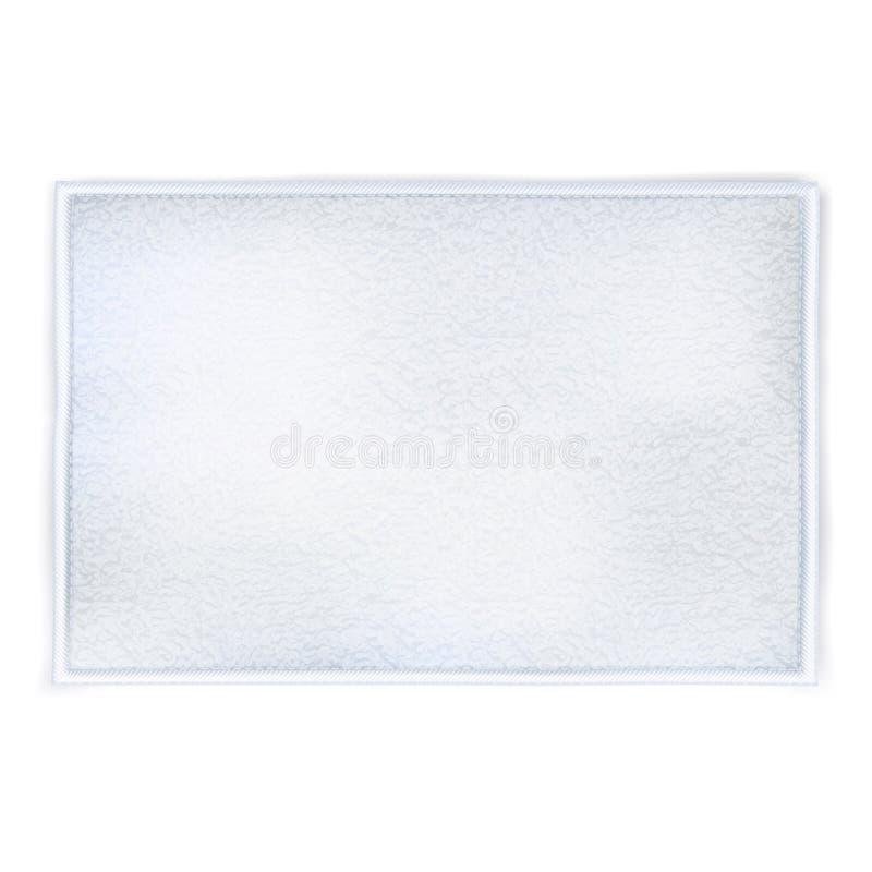 Άσπρη ξετυλιγμένη πετσέτα διανυσματική απεικόνιση