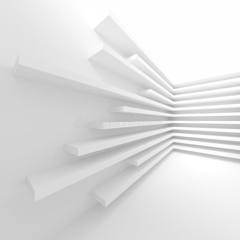 Άσπρη οικοδόμηση κτηρίου αφηρημένη ανασκόπηση αρχιτεκτονικής Μ ελεύθερη απεικόνιση δικαιώματος