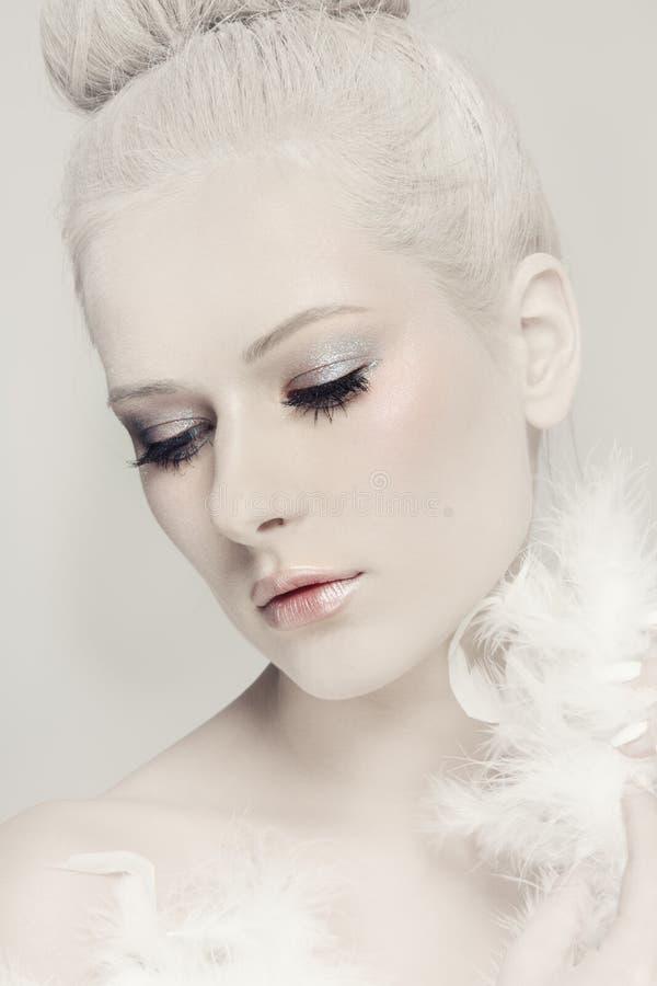 Άσπρη ομορφιά στοκ φωτογραφίες
