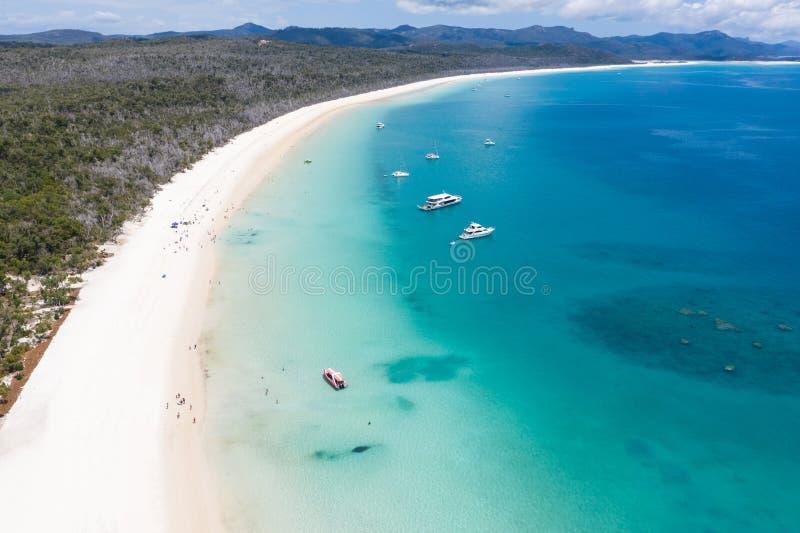 Άσπρη παραλία λιμανιών Whitsundays - Queensland Αυστραλία στοκ φωτογραφία με δικαίωμα ελεύθερης χρήσης