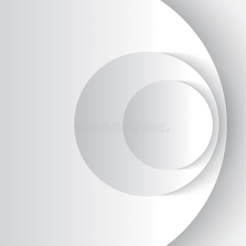 Άσπρη περίληψη cirles ελεύθερη απεικόνιση δικαιώματος