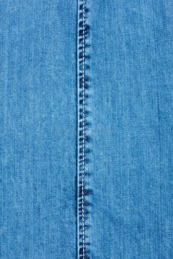 Άσπρη ραφή στο τζιν στοκ φωτογραφία με δικαίωμα ελεύθερης χρήσης