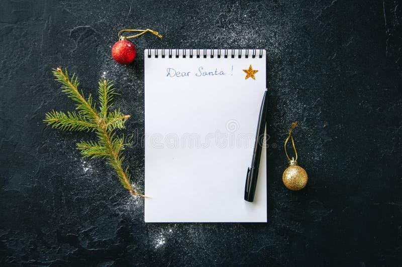 Άσπρη σελίδα του σημειωματάριου με την επιγραφή στοκ εικόνα