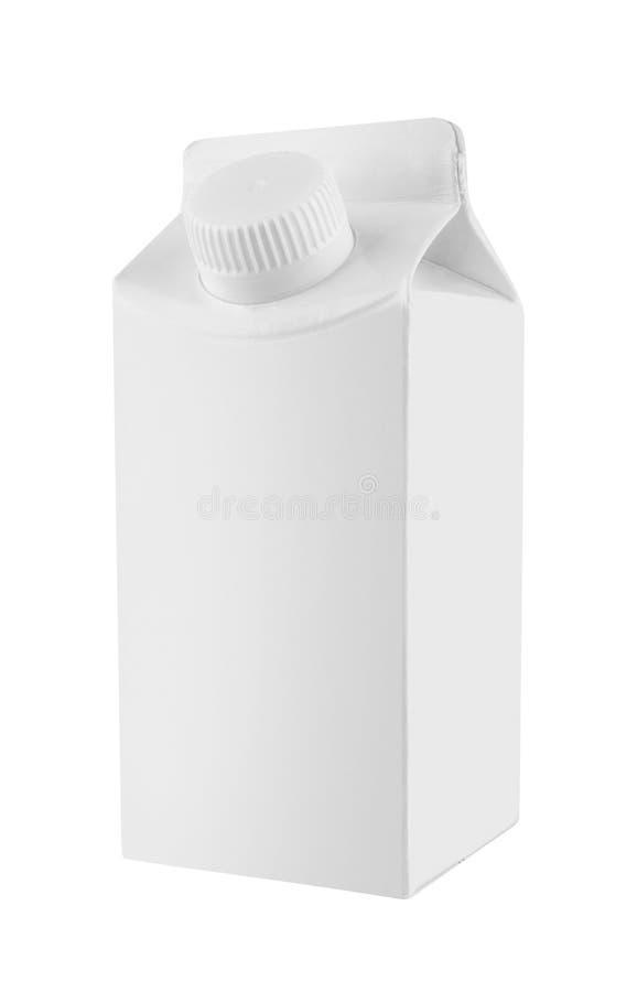 Άσπρη συσκευασία χαρτοκιβωτίων γάλακτος και χυμού στοκ εικόνες με δικαίωμα ελεύθερης χρήσης