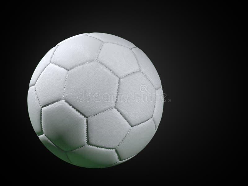 Άσπρη σφαίρα ποδοσφαίρου απεικόνιση αποθεμάτων