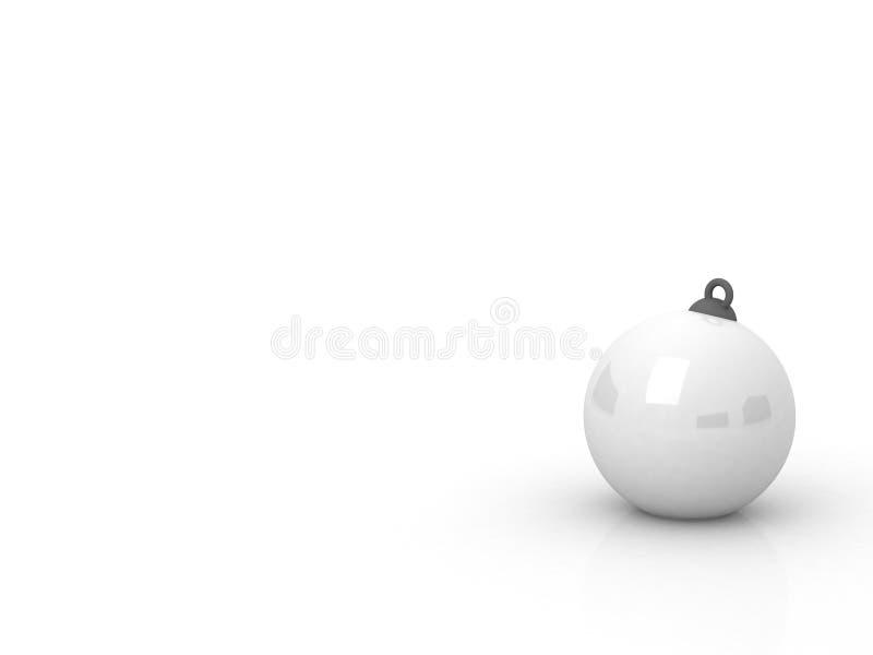 Άσπρη σφαίρα Χριστουγέννων ελεύθερη απεικόνιση δικαιώματος
