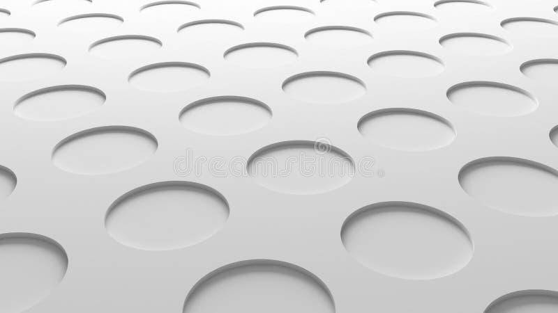 Άσπρη σύσταση κύκλων Αφηρημένο υπόβαθρο δαπέδων σχεδίων τρισδιάστατος ελεύθερη απεικόνιση δικαιώματος