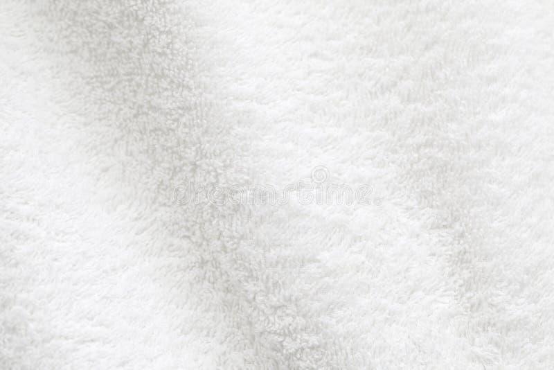 Άσπρη σύσταση φωτογραφιών υποβάθρου πετσετών βαμβακιού στοκ φωτογραφία με δικαίωμα ελεύθερης χρήσης
