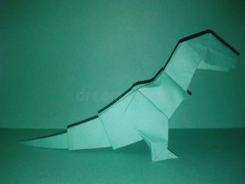 Άσπρη τέχνη εγγράφου δεινοσαύρων τ -τ-rex origami στοκ φωτογραφία με δικαίωμα ελεύθερης χρήσης
