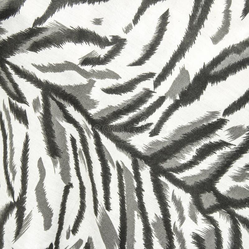Άσπρη τίγρη δερμάτων υφάσματος στοκ εικόνα