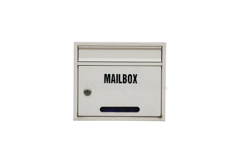 Άσπρη ταχυδρομική θυρίδα στοκ φωτογραφίες με δικαίωμα ελεύθερης χρήσης