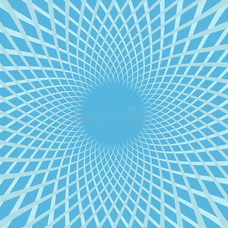Άσπρη ταχύτητα λουλουδιών χρώματος σπειροειδής Ζωηρόχρωμο στροβίλου σύνολο γραμμών μετακίνησης φωτεινό Καμμένος πρότυπο κύκλων Ηλ ελεύθερη απεικόνιση δικαιώματος
