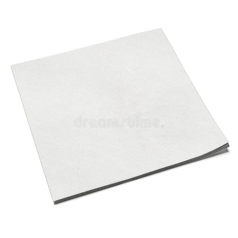 Άσπρη τετραγωνική πετσέτα φραγμών ελεύθερη απεικόνιση δικαιώματος