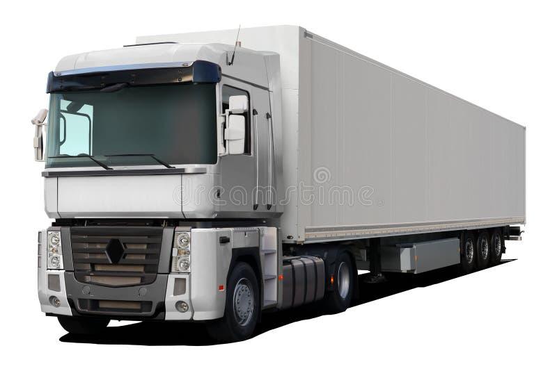 Άσπρη φιάλη δύο λίτρων της Renault φορτηγών στοκ φωτογραφία