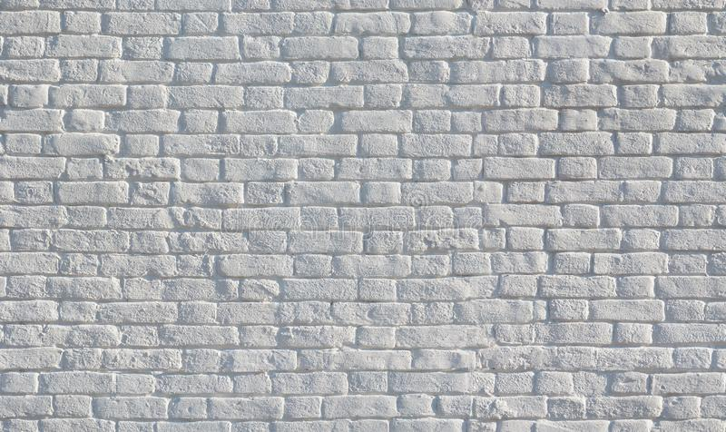 Άσπρη χρωματισμένη άνευ ραφής σύσταση τουβλότοιχος στοκ φωτογραφία