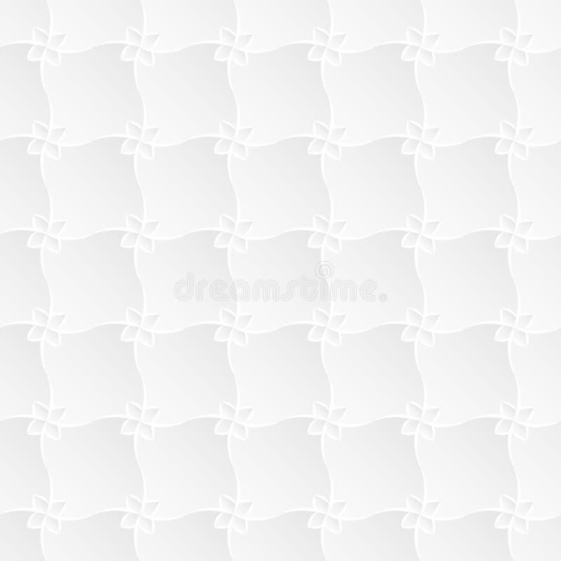 Άσπρη Trellis χλωρίδας σύσταση στοκ φωτογραφία με δικαίωμα ελεύθερης χρήσης