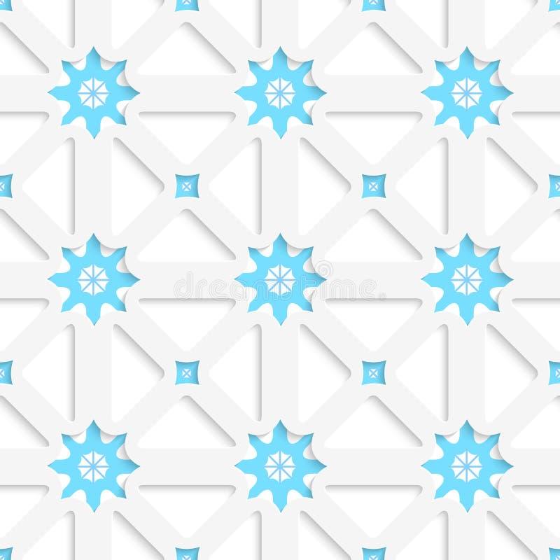 Άσπροι καθαρός και snowflakes με τη διακόσμηση κεραμιδιών σκιών απεικόνιση αποθεμάτων