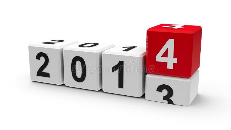 Άσπροι κύβοι 2014 απεικόνιση αποθεμάτων