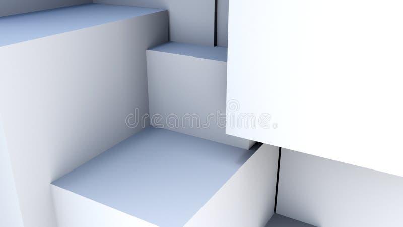 Άσπροι κύβοι Abstact τρισδιάστατο δίνοντας υπόβαθρο διανυσματική απεικόνιση