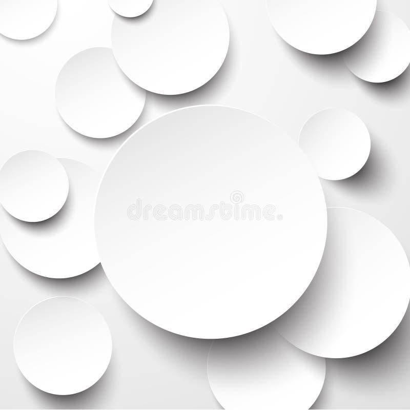 Άσπροι κύκλοι εγγράφου. απεικόνιση αποθεμάτων