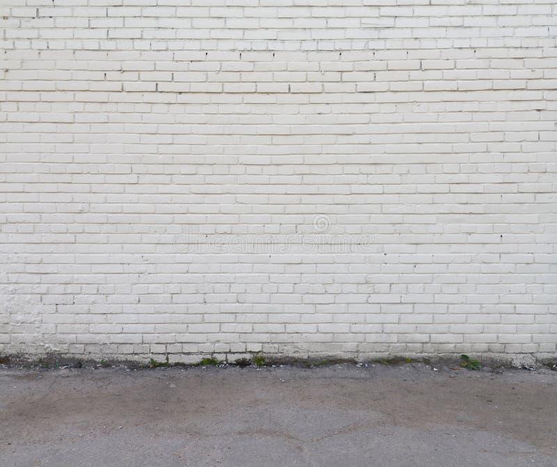 Άσπροι τοίχος και πάτωμα στοκ εικόνες