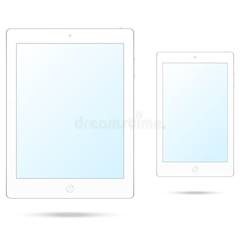 Άσπροι υπολογιστής και smartphone ταμπλετών στοκ φωτογραφία με δικαίωμα ελεύθερης χρήσης