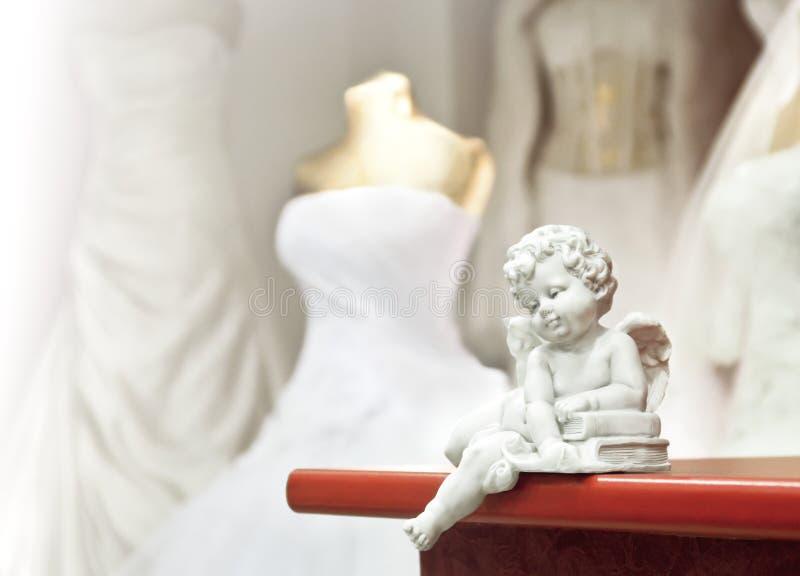 Άσπρος άγγελος στοκ εικόνα