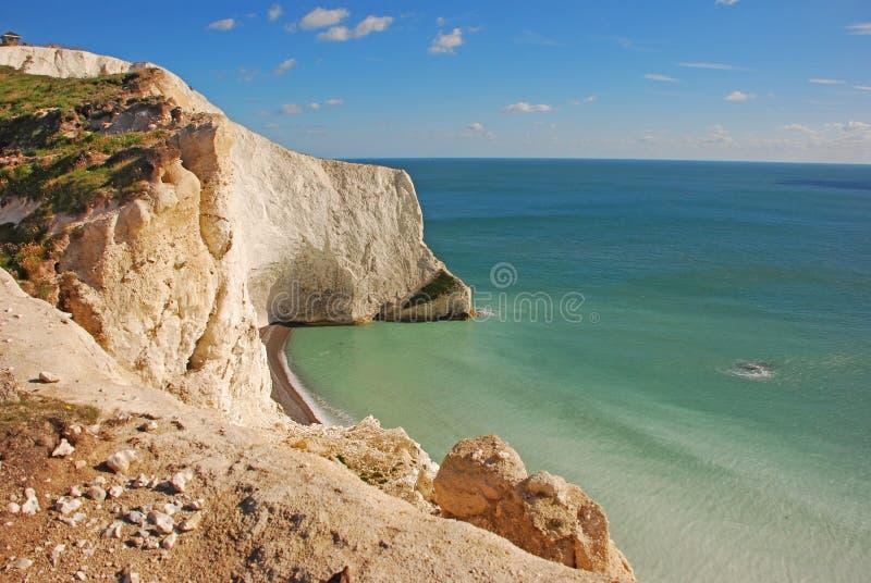 Άσπρος απότομος βράχος στις βελόνες στο Isle of Wight στοκ φωτογραφία με δικαίωμα ελεύθερης χρήσης