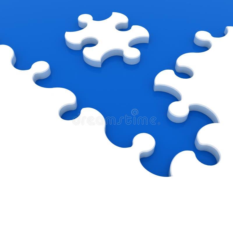 Άσπρος γρίφος στο μπλε υπόβαθρο απεικόνιση αποθεμάτων