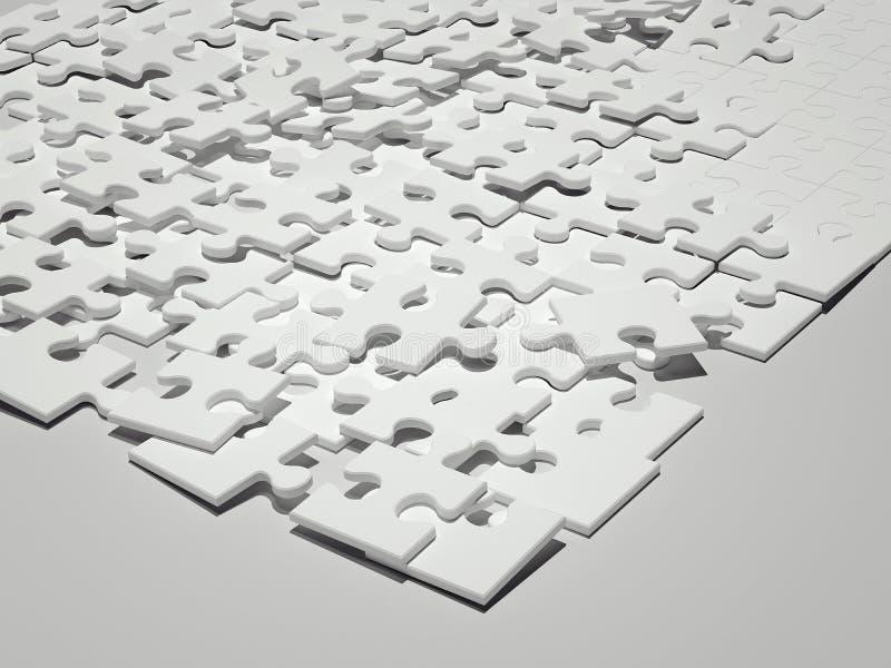 Άσπρος γρίφος τρισδιάστατη απόδοση διανυσματική απεικόνιση