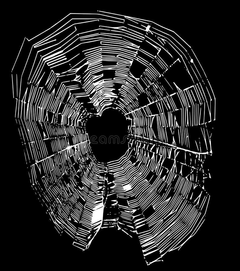 Άσπρος Ιστός αραχνών διανυσματική απεικόνιση