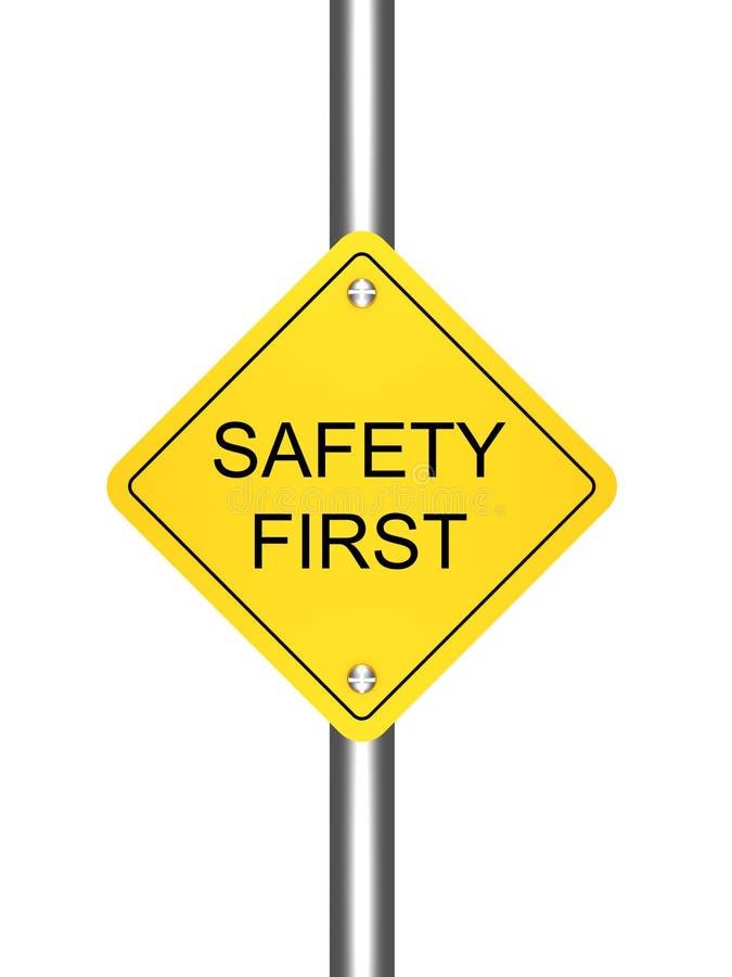 άσπρος κίτρινος σημαδιών οδικής ασφάλειας ανασκόπησης πρώτος απεικόνιση αποθεμάτων