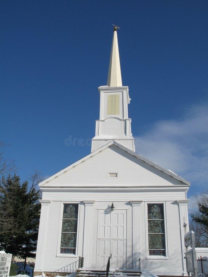 άσπρος ξύλινος εκκλησιών Στοκ φωτογραφίες με δικαίωμα ελεύθερης χρήσης