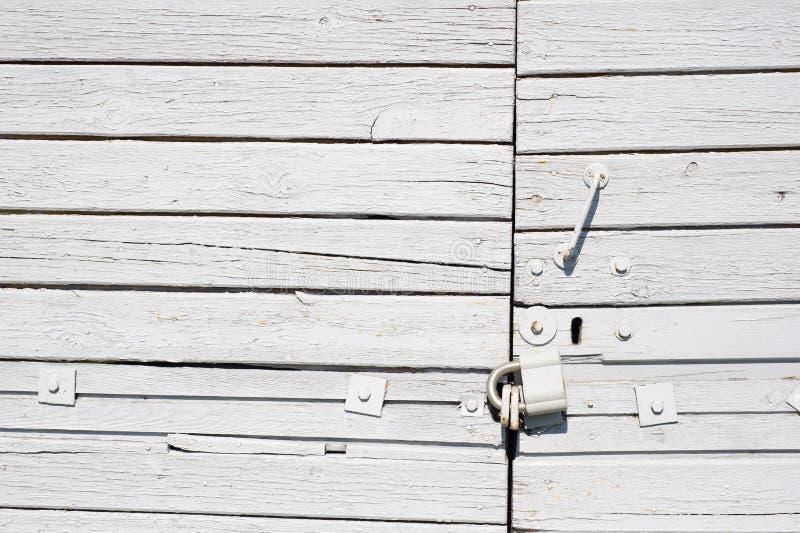άσπρος ξύλινος πορτών στοκ φωτογραφία