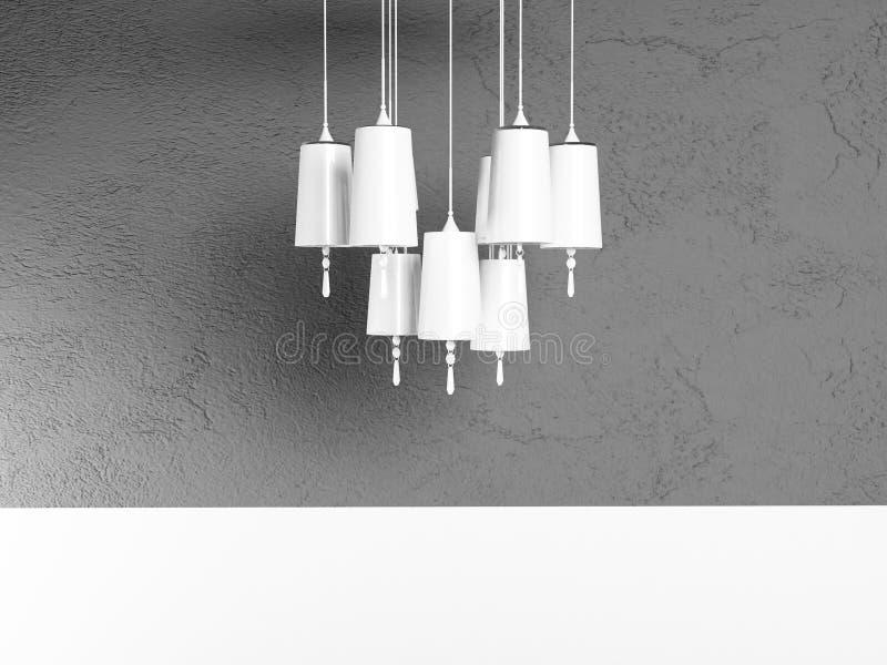 Άσπρος πολυέλαιος, απόδοση διανυσματική απεικόνιση