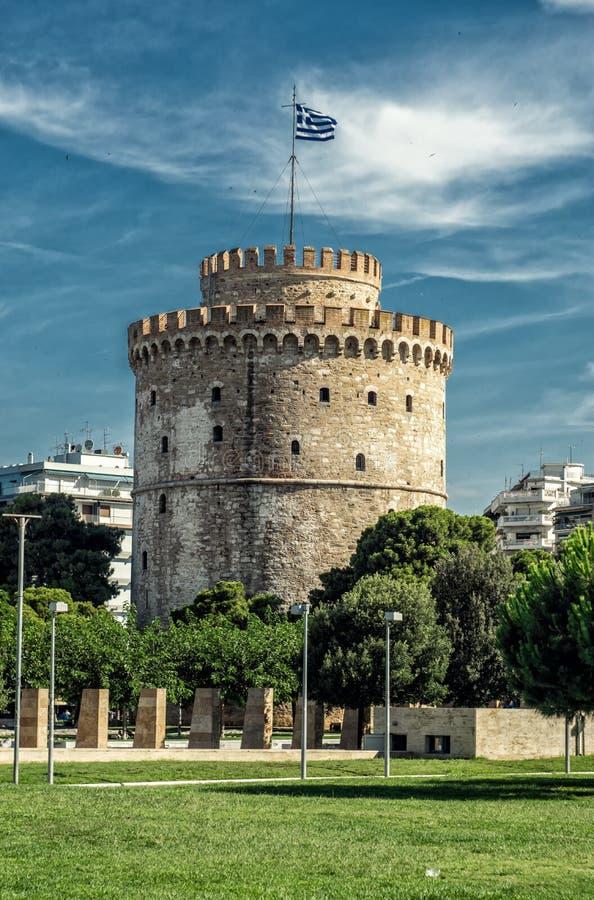 Άσπρος πύργος της πόλης Θεσσαλονίκης στοκ φωτογραφία