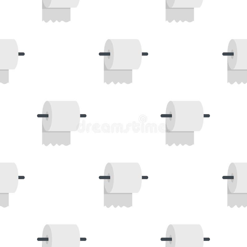 Άσπρος ρόλος του χαρτιού τουαλέτας σε ένα σχέδιο κατόχων απεικόνιση αποθεμάτων