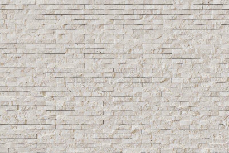 Άσπρος σύγχρονος τουβλότοιχος πετρών στοκ φωτογραφία