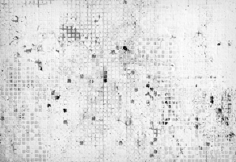 Άσπρος τοίχος κεραμιδιών στοκ εικόνα με δικαίωμα ελεύθερης χρήσης