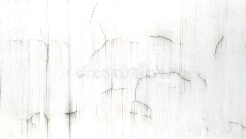 Άσπρος τοίχος ρωγμών παλαιός και λεκές στοκ εικόνες