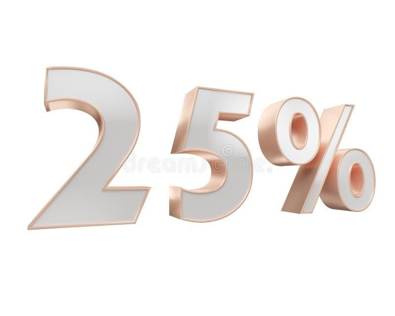 Άσπρος χρυσός, χαλκός πενήντα τοις εκατό, που απομονώνονται στο άσπρο υπόβαθρο 50 τρισδιάστατη απεικόνιση Renderer ελεύθερη απεικόνιση δικαιώματος