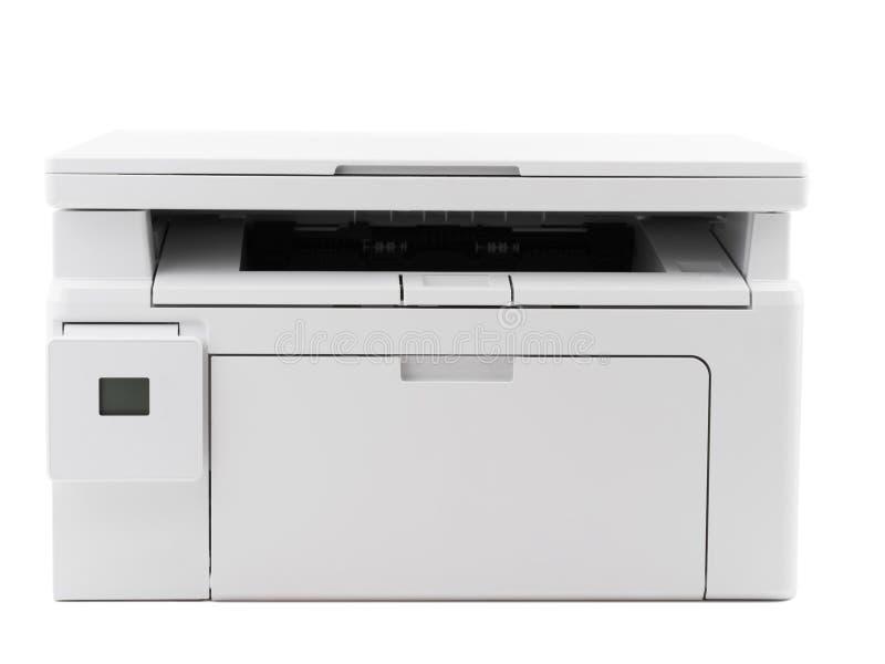 Άσπρος ψηφιακός εκτυπωτής που απομονώνεται στο άσπρο υπόβαθρο στοκ εικόνα με δικαίωμα ελεύθερης χρήσης