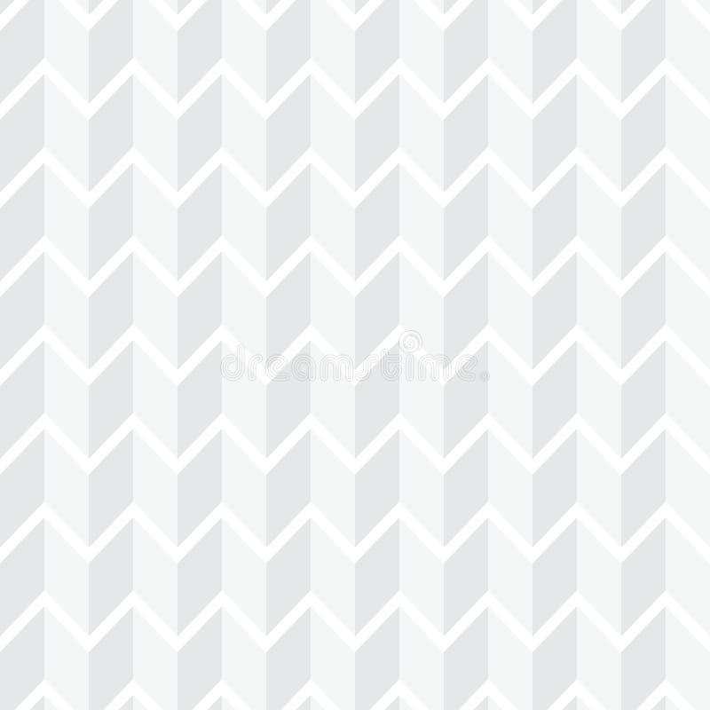 Άσπρο άνευ ραφής γεωμετρικό σχέδιο Απλό καθαρό άσπρο υπόβαθρο ελεύθερη απεικόνιση δικαιώματος