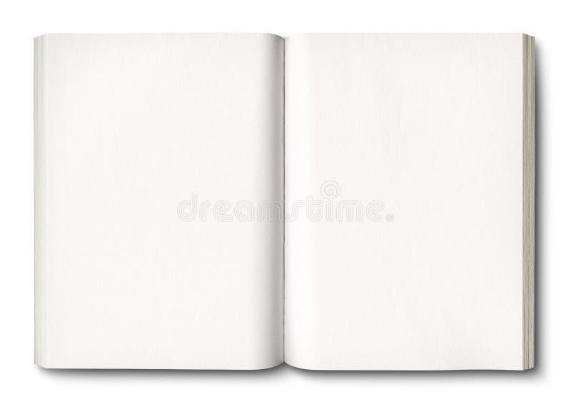 Άσπρο ανοικτό βιβλίο που απομονώνεται στο λευκό διανυσματική απεικόνιση